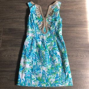 Lilly Pulitzer Janice Dress High Beams Lighthouse